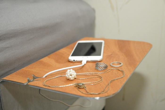 A KICKSTARTER PROJECT: Mobi - A modern, compact bedside or couch table. by