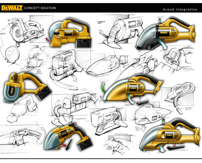 Galerry industrial design ideation sketches