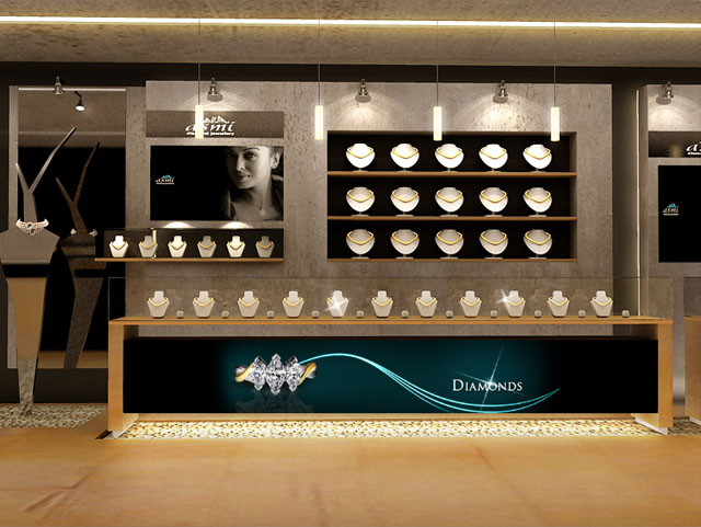 Jewellery showrooms interior designs joy studio design for Jewellery showroom interior design images