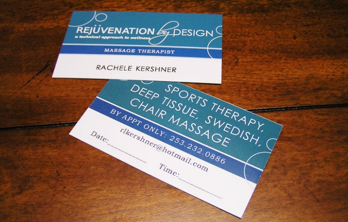 Business card design by shanelle roberts at coroflot massage therapy business card design modern business card design for a massage therapist colourmoves Gallery