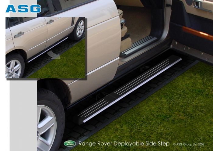 Deployed Side Steps For Range Rover Genuine Accessory: Portfolio By Evan Jones At Coroflot.com
