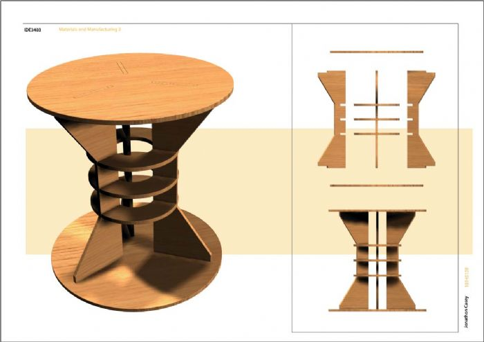 ikea flat pack stool by jonathon casey at. Black Bedroom Furniture Sets. Home Design Ideas