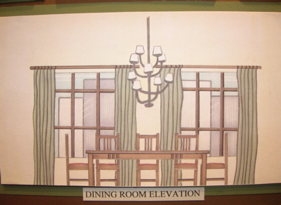 Renderings by natalie darafeev at for Dining room elevation