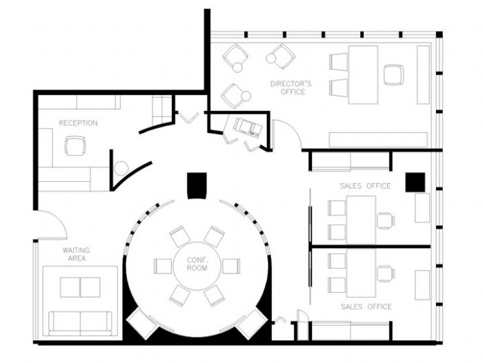 Small office floor plans house plans for Office design dwg