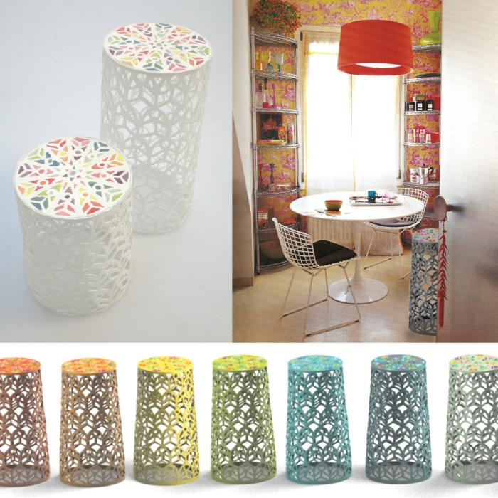 maria gil ulldemolins - london, United Kingdom - Bloom Stool for Liberty :  home stool acrylics furniture design