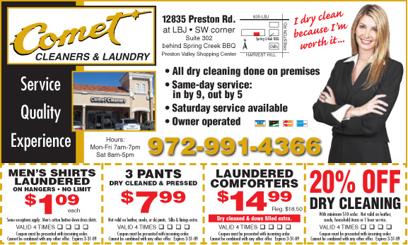 Coupons comet cleaners