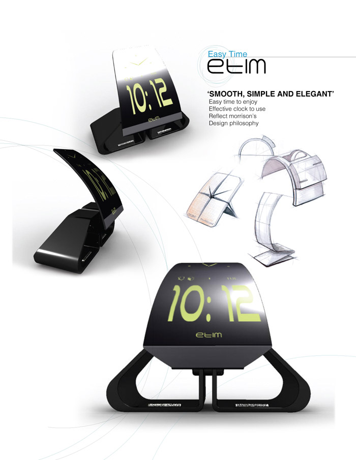 etim desk clock this desk clock is designed based on product designer jasper morrisons philosophy his work tends to be minimal simple and elegant - Designer Desk Clock