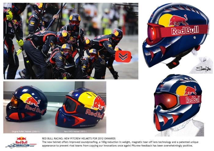 Red Bull Racing Pitcrew Helmets by STEFAN BRIDGES at
