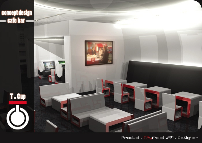 Cyber cafe concept design by raymond lam at for Internet cafe interior designs