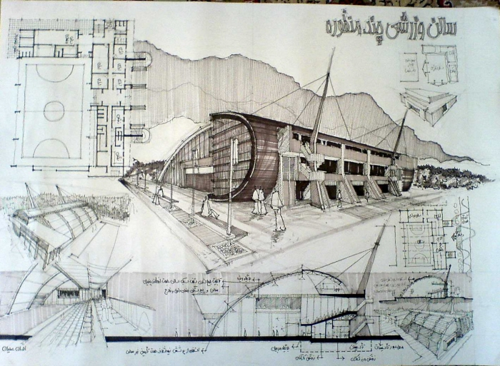 Architectural sketchs by ehsan olian at for Full size architectural drawings