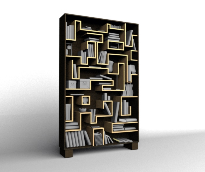 Mini Maze (reminds Me Of Pac Man!) In A Bookcase, Where You Wonu0027t Lose A  Thing.