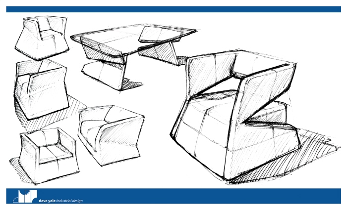 Furniture by dave yale at for Furniture sketch design