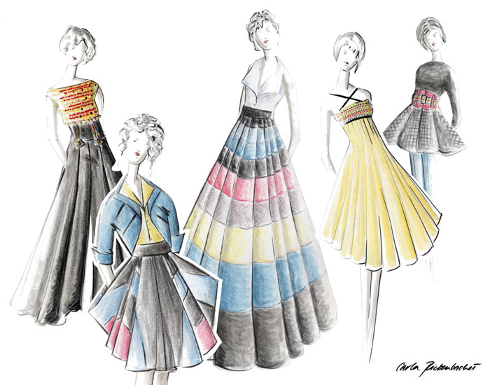 1950s inspired womens wear collection by carla rickenbacher at