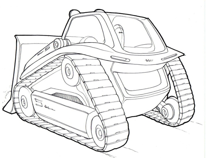 dozer coloring pages - photo#35