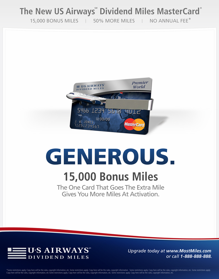 Us airways mastercard login best business cards for Us bank business credit card login