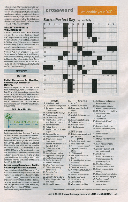 Court statement writer crossword puzzle clue