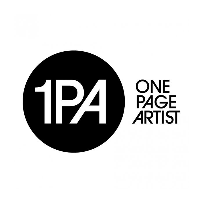 One Page Artist logo - Logo for One Page Artist (onepageartist.com), a site dedicated to music.