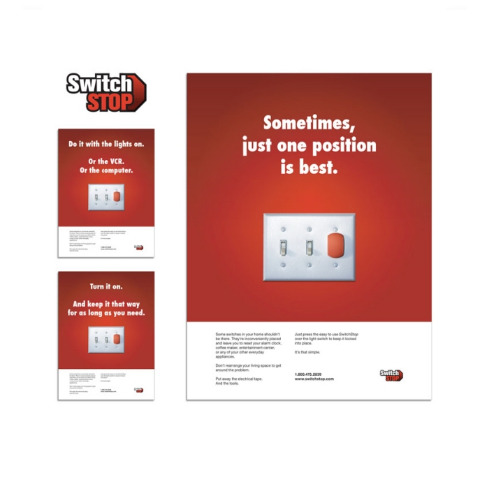SwitchStop logo & ad campaign - Logo and ads for SwitchStop, a product launched by ImagineThat!.
