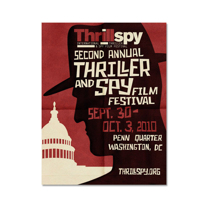 ThrillSpy 2010 Poster - The 2010 ThrillSpy film festival poster was designed per the client's request.