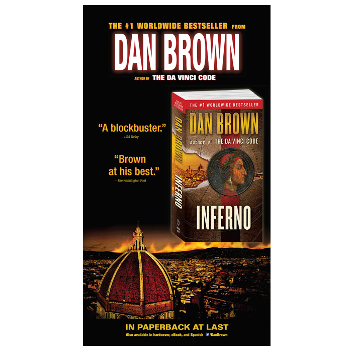 Inferno - Full-page New York Times ad for Dan Brown's bestseller.