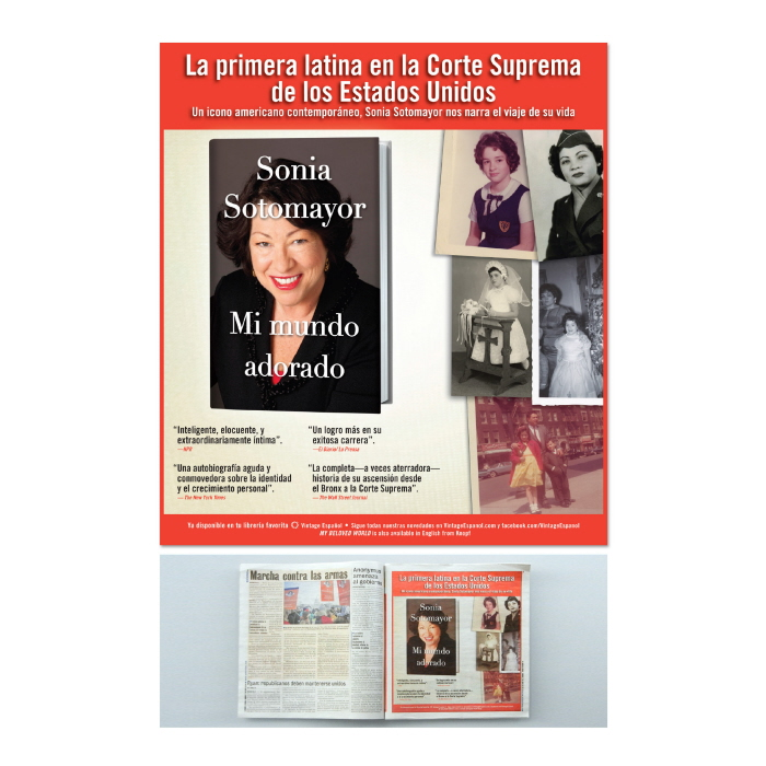 Mi mundo adorado - Full-page ad in el Diario for the Spanish translation of Sonia Sotomayor's autobiography.