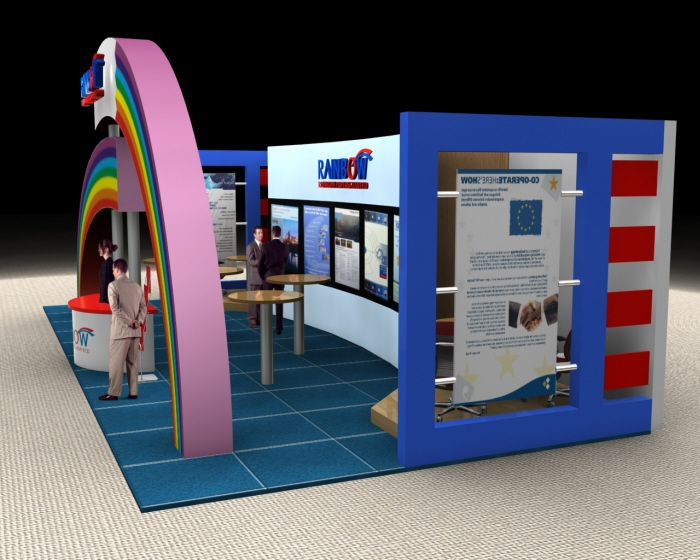 Rainbow exhibition stall by nikhil mehta at for Kitchen xpress overseas ltd contact number
