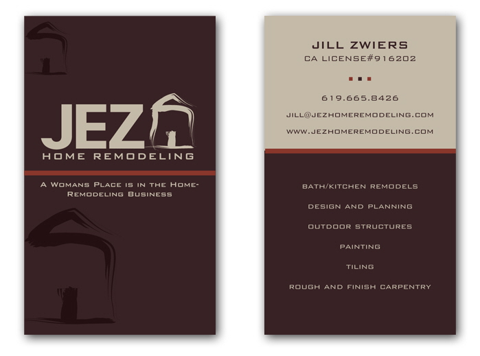 JEZ Home Remodeling Logo and Business Card by Sara Malloure at ...