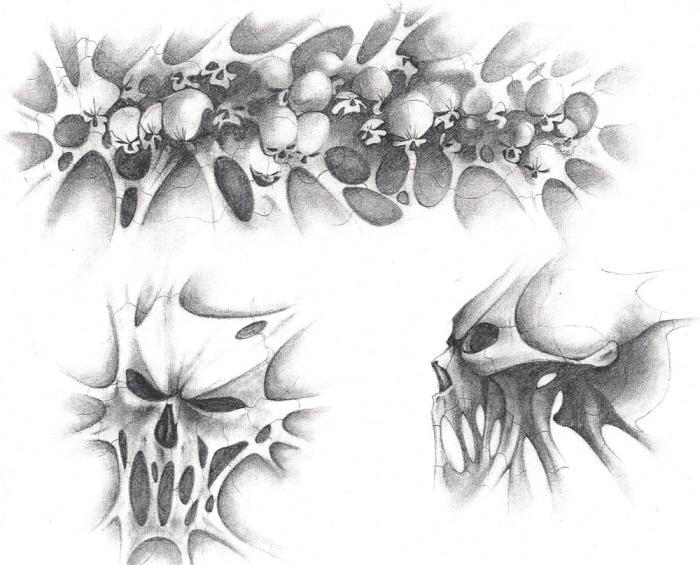 More Skull Tattoo Designs Pencil View original file MeLikey