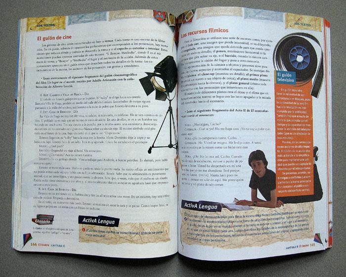 textbook layout  lengua y literatura 8 by ricardo cordoba