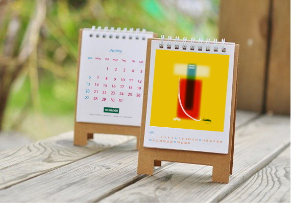 Handmade Table Calendar Designs : Desk calendar for sale by mark creation at coroflot