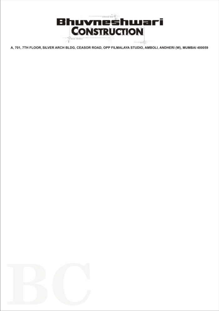 Letterheads by ilyas qureshi at coroflot construction company letterhead design thecheapjerseys Choice Image