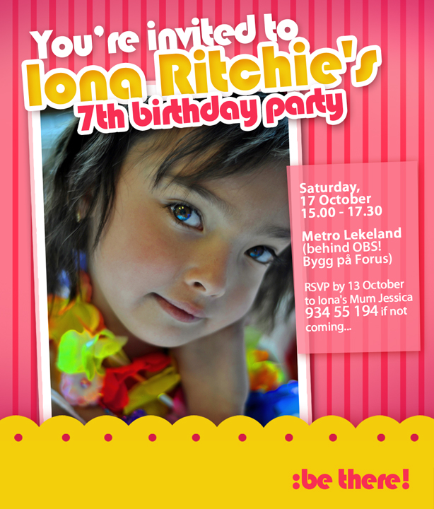 Birthday Christening Invitation by Darlene SanguenzaCano at – Sample of Birthday Invitation