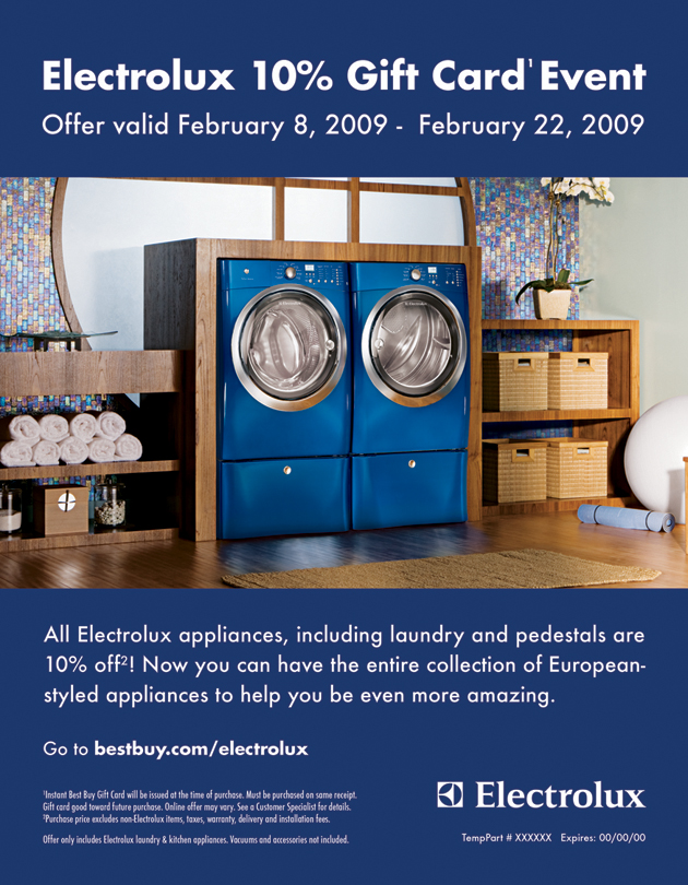 electrolux major appliances by jonathan cox at. Black Bedroom Furniture Sets. Home Design Ideas