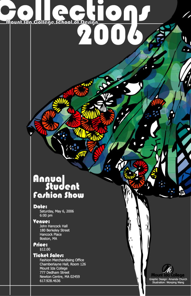 Collections 2006 Poster   Winning Poster For The Collections 2006 Poster  Contest. To Design A Campaign For The Collections 2006 Mount Ida College  Fashion ...  Fashion Design Posters