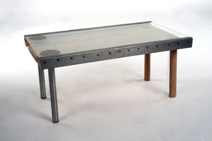 Glass And Oak Extending Coffee Table By Furniture Mike At