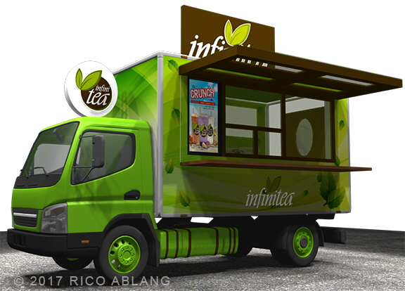 Infinitea food truck design by rico ablang at for Food truck blueprint