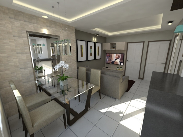 48sqm 2br condo unit tivoli gardens by anne margaret ayet for Interior designs for condo units