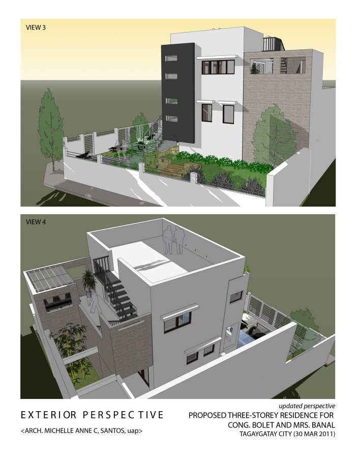Architecture and interior design by michelle anne santos for 3 story deck design