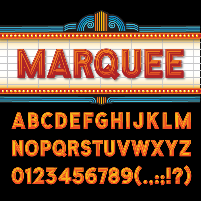 marquee clipart   Hostted