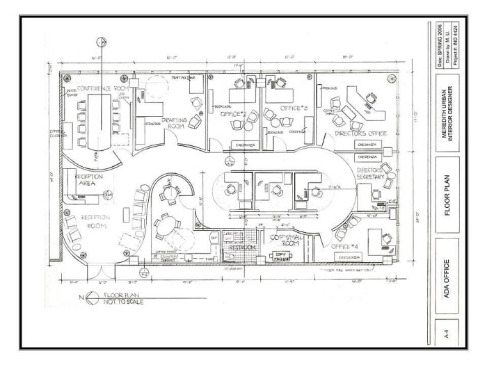 ADA BUSINESS OFFICE: Floor Plan   The Approximate Square Footage For The Office  Space Is 408 Sq Ft. The Project Requirements Included Designing A Creative  ...