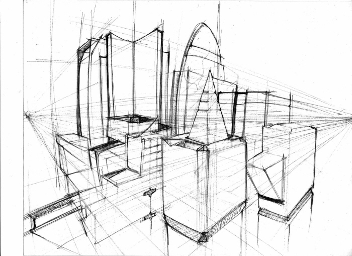 Raw architecture drawings by jamal givens at for Full size architectural drawings