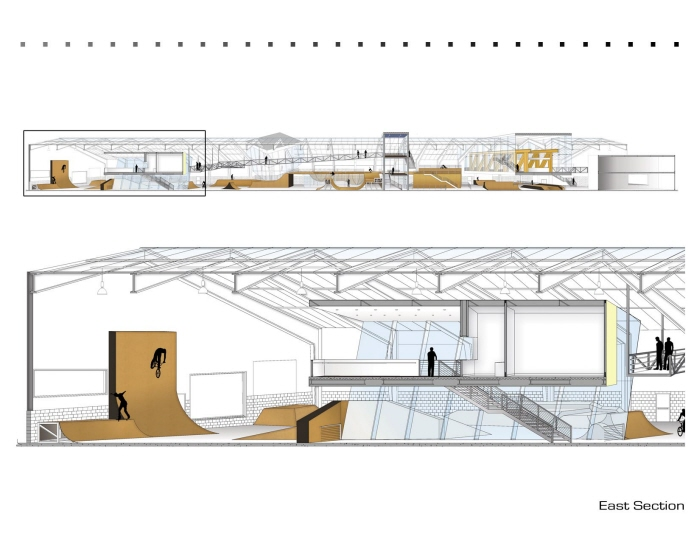 Thesis indoor skatepark by lauren mammano at for Indoor skatepark design uk
