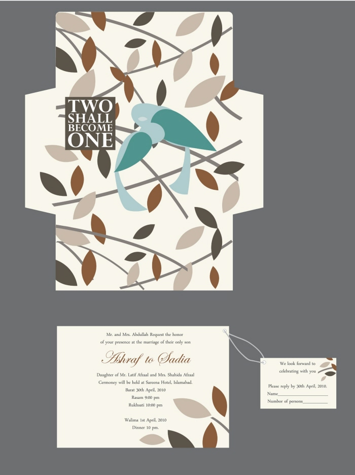 Unique Wedding Card designs