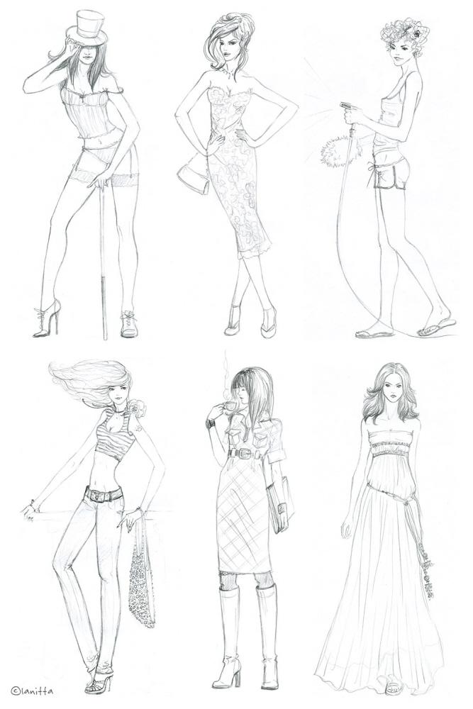 Мы будем рисовать старинное длинное платье. . Это наряд со страниц модного журнала девятнадцатого века