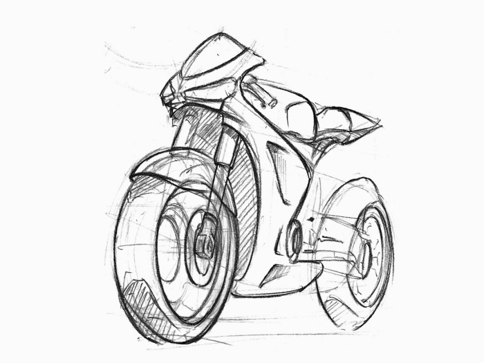 motorcycle sketches by sen heng at coroflot com