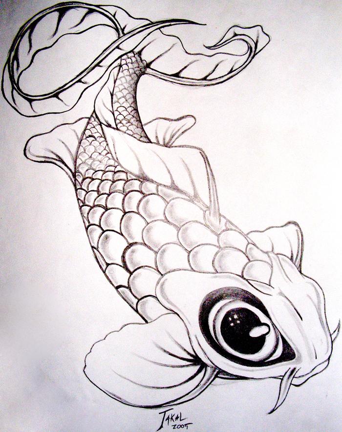 koi fish drawing. California - Koi Fish