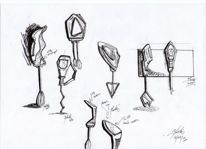 Drawing Hand Mixer ~ Industrial design university project by faliq sharif at