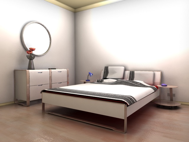 Bedroom Scene   Programs Used To Create These Interior Environment Were  Maya, Mental Ray And Photoshop