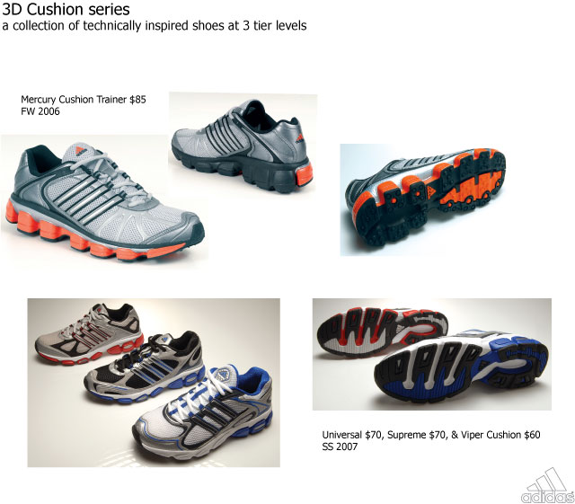 adidas 3d cushion running shoes
