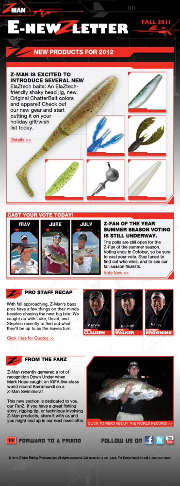 Z man fishing products e newsletters by spencer lewis at for Z man fishing products